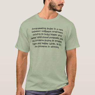 De programmering is vandaag een ras tussen t shirt
