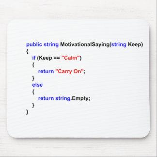 De programmeurs houden Kalm en dragen de Mat van d Muismat