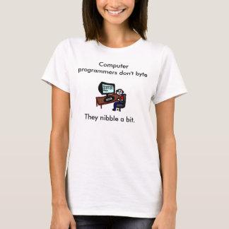 De programmeurs van de computer niet byte t shirt
