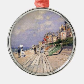 De promenade in Trouville Claude Monet Zilverkleurig Rond Ornament