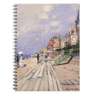 De promenade in Trouville door Claude Monet Ringband Notitieboek