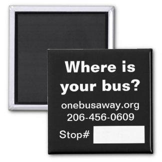 De promotiemagneet van OneBusAway Magneet