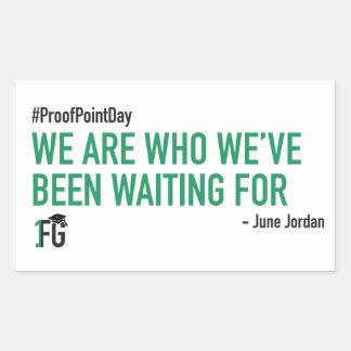 De #ProofPointDay Sticker van June Jordan