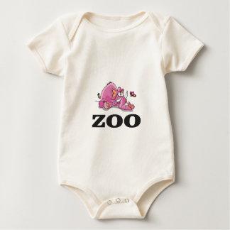 de prop van de dierentuinolifant baby shirt