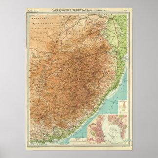 De Provincie van de kaap, Transvaal, oostelijke se Poster