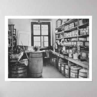 De provisiekamer van de Studio van de Muurschilder Poster