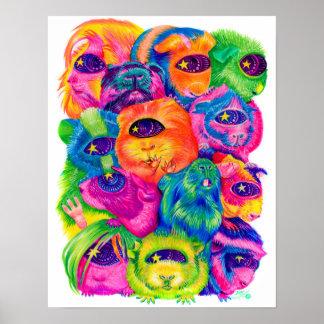 De psychedelische Druk van de Stapel van het Poster