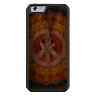 De psychedelische Duif van de Vrede Walnoot iPhone 6 Bumper Hoesje