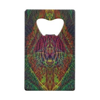 De psychedelische Flesopener van de Introspectie Creditkaart Flessenopener