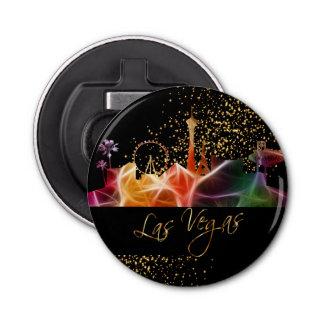 De psychedelische Horizon van Las Vegas Button Flesopener