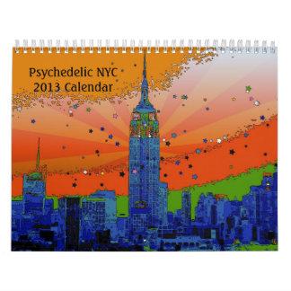 De psychedelische Kalender van NYC 2013
