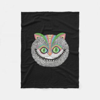De psychedelische Kat van Cheshire Fleece Deken