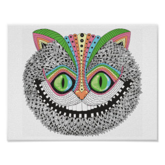 De psychedelische Kat van Cheshire Poster