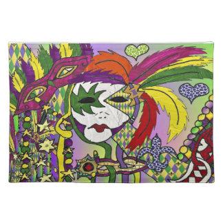 De psychedelische Maskers Placemat van de Veer van