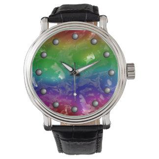 De psychedelische Op gelei gezette Regenboog Horloges
