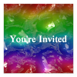 De psychedelische Op gelei gezette Regenboog Kaart