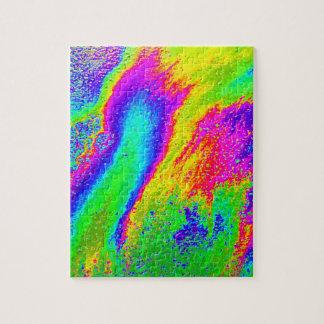 De psychedelische Puzzel van de Regenboog van de Puzzel