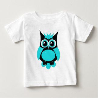 De Punk Uil van Aqua Baby T Shirts