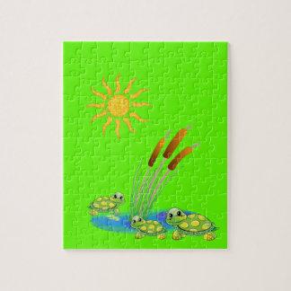 De Puzzel van de schildpad Puzzel