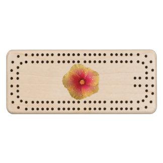 De Raad van de Cribbage van de hibiscus Esdoorn Cribbagebord