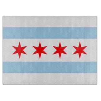 De raad van het glassnijden met Vlag van Chicago, Snijplank