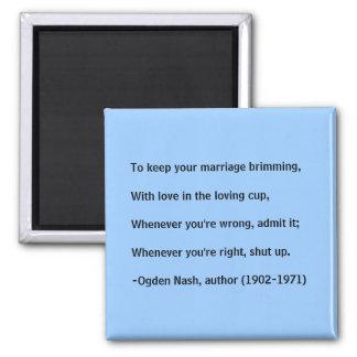 De raad van het huwelijk - magneet