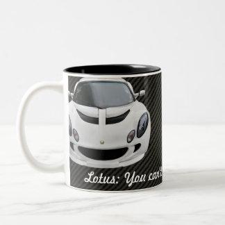 De Raceauto van Lotus Exige S Tweekleurige Koffiemok