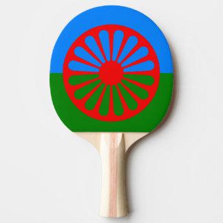 De Racket van de Pingpong van de Vlag van Romani Tafeltennisbatje