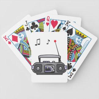 De radio het Spelen Speelkaarten van de Muziek Poker Kaarten