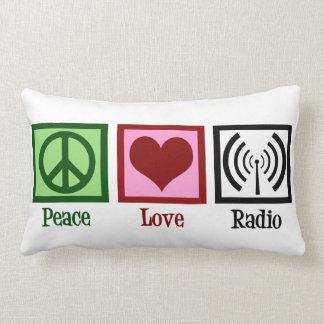 De Radio van de Liefde van de vrede Lumbar Kussen
