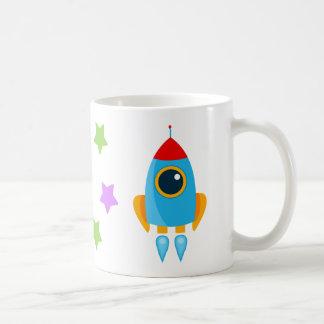 De Raket van de cartoon Koffiemok