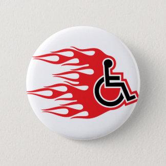 De raketvlammen van de rolstoel ronde button 5,7 cm
