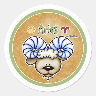 De Ram van het Teken van de dierenriem - de Ronde Stickers