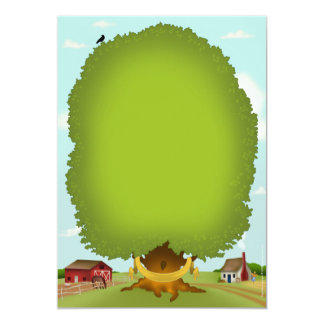 De RasGrafiek van de Stamboom van de genealogie 12,7x17,8 Uitnodiging Kaart