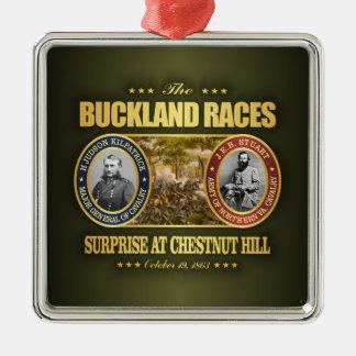 De Rassen van Buckland (FH2) Zilverkleurig Vierkant Ornament