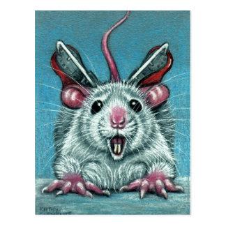 De rat viel het Schaatsen van het Ijs Briefkaart