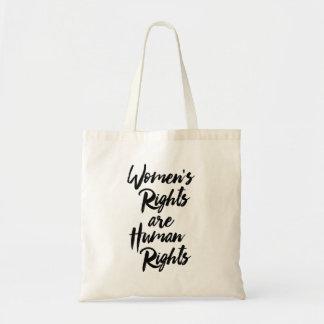 De Rechten van vrouwen zijn Rechten van de mens Draagtas