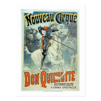 """De reclame voor """"trekt Don Quichot, Nieuw Circus"""" Briefkaart"""