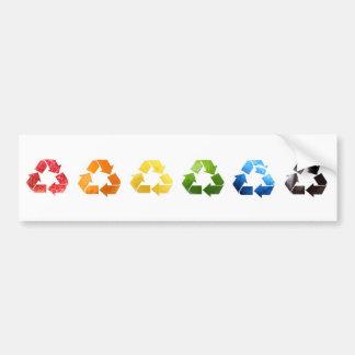 De recyclerende Sticker van de Bumper van het Frui