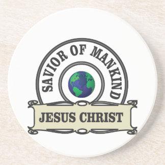 de redder van Christus van al mensheid Zandsteen Onderzetter