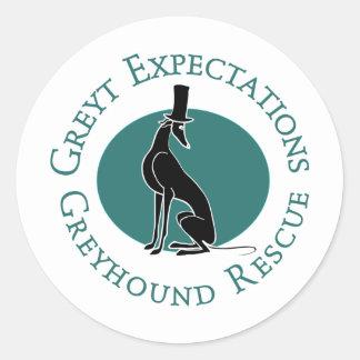 De Redding van de Windhond van de Verwachtingen Ronde Stickers