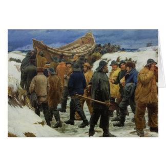 De reddingsboot wordt genomen door de Duinen door Kaart