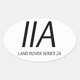De Reeks IIA van IIA Land Rover Ovale Sticker