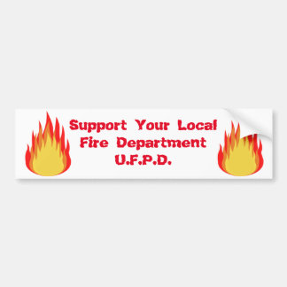 De Reeks van de Brand van Utica Bumpersticker