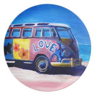 De reeks van de Bus van de branding - de Liefde Diner Bord
