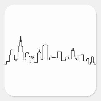 De Reeks van de Horizon van Chicago Vierkante Sticker