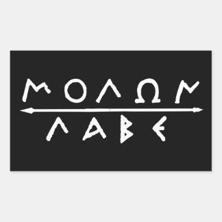 De Reeks van de Sticker van Labe van Molon
