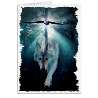 De Reeks van de WOLF & van het Wild van EAGLE Briefkaarten 0