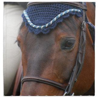 De Reeks van het Profiel van het paard van Vier Bedrukt Servet