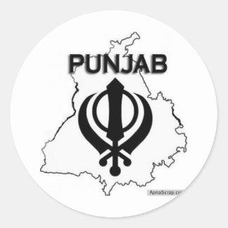 De Reeks van Punjab Ronde Sticker